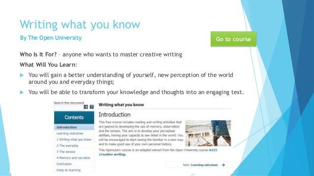 Creative Writing - Audio