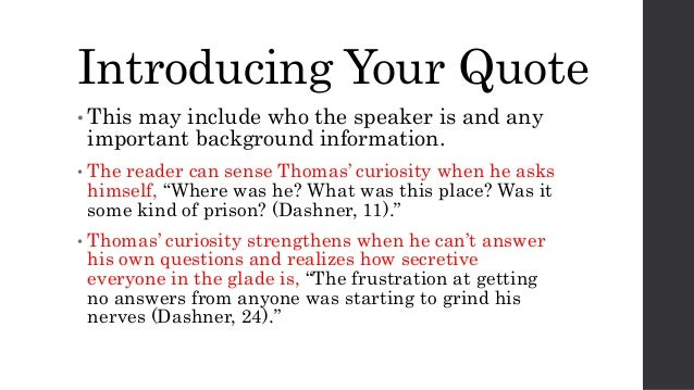 quotation introduction essay Writing a brief introduction displays does your reader understand the quotation using quotations in essays so when you choose a quotation for your essay.
