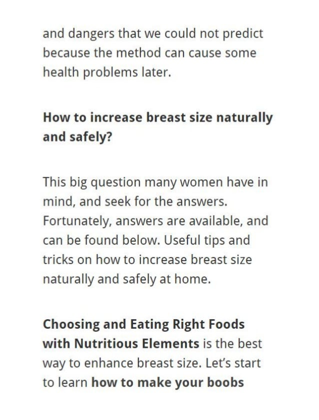 Best Way To Grow Your Breasts Naturally