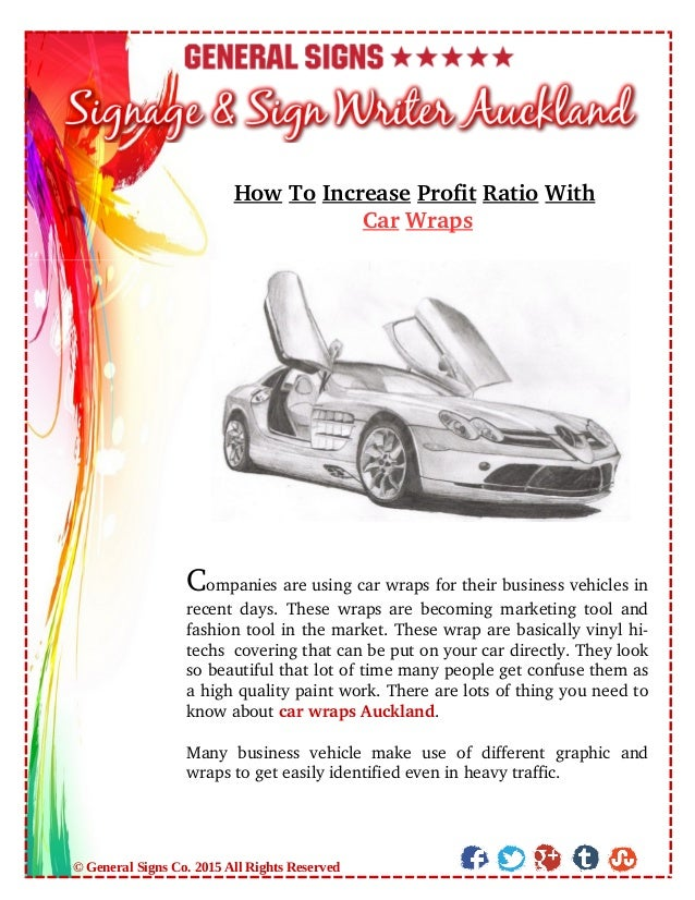 HowToIncreaseProfitRatioWith CarWraps Companiesareusingcarwrapsfortheirbusinessvehiclesin recentdays.The...