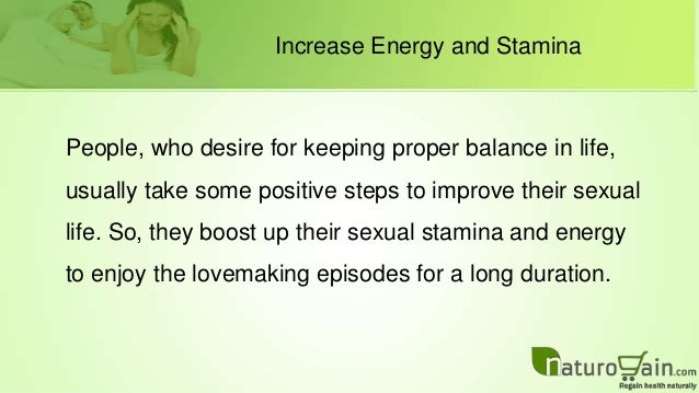 How to increase sexual energy