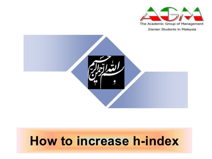 How to increase h-index