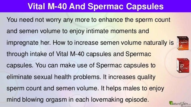 How to increase semen flow