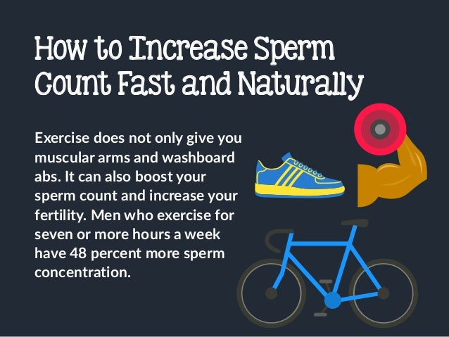 Increase Sperm Production Naturally