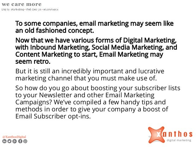 How to Increase Subscribers to Your Newsletter and Email Marketing Campaigns Slide 2