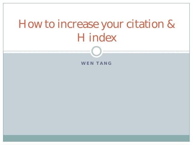 research paper citation index