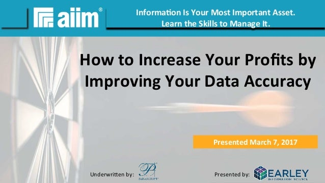 [Webinar Slides] How to Increase Your Profits by Improving ...