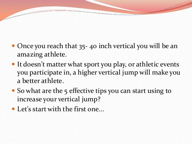 how to vertical jump properly