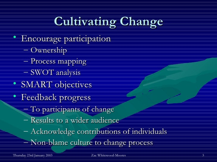 how to influence change in an organization