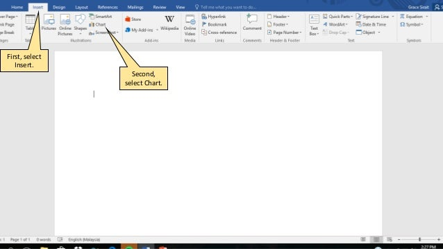 How To Insert Pie Chart In Word 2016