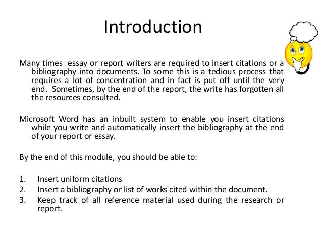 how to insert references and bibliography into your word document  assistant taso headquarters 2 introductionmany times essay