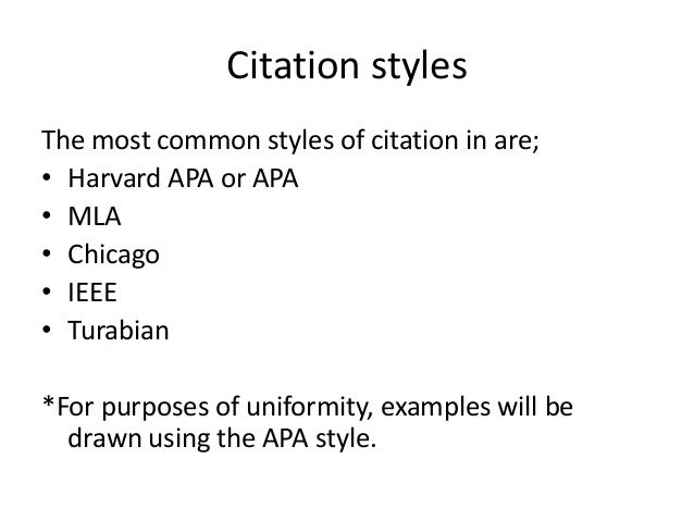 Style Manuals and Citation Methods: General Information