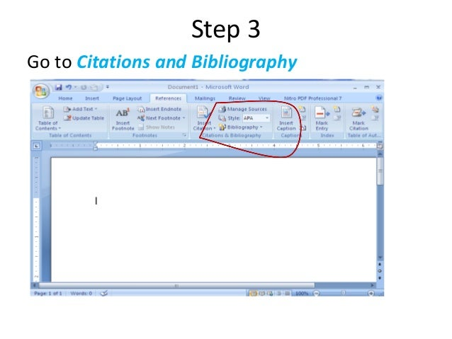 How To Put References Into Word Document