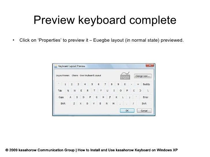 How To Install kasahorow Keyboard For Windows