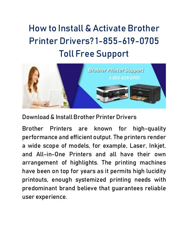 How to Install & Activate Brother Printer Drivers? 1-877-235-8666 Tol…