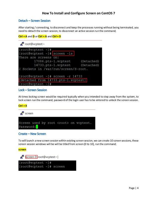 Rhel 7 Lock Screen Command