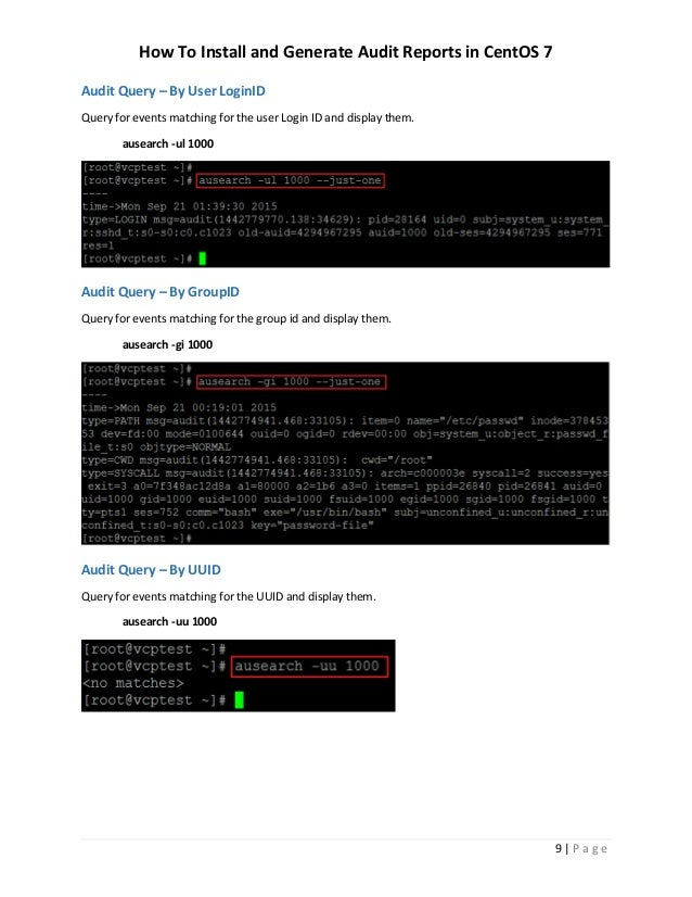 How To Install and Generate Audit Reports in CentOS 7 or RHEL 7