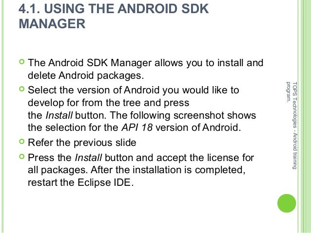 How to install android sdk