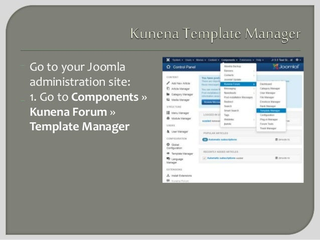 How to install a new Kunena forum template