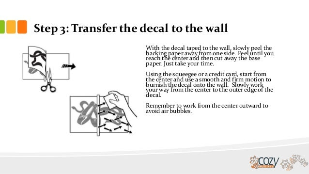 how to put wall decal onto transfer paper