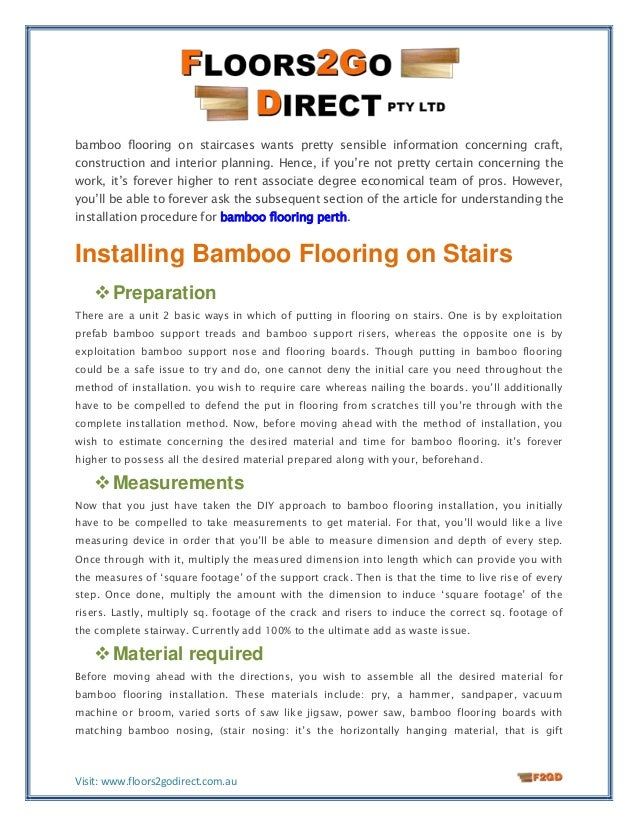 How to install bamboo flooring on stairs for Installing bamboo flooring