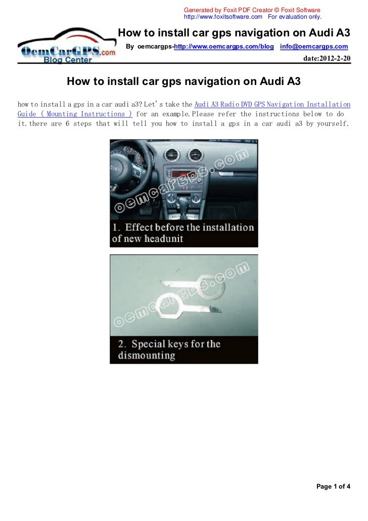 How to install car gps navigation on audi a3
