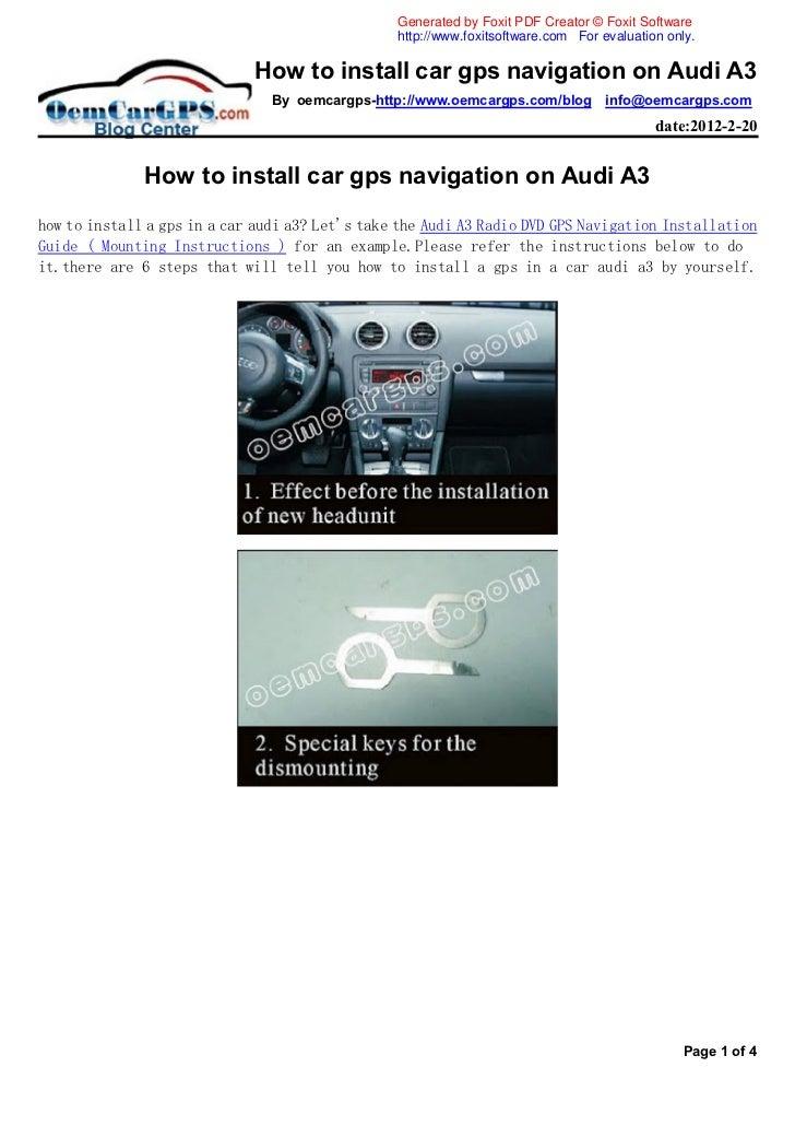 how to install car gps navigation on audi a3. Black Bedroom Furniture Sets. Home Design Ideas