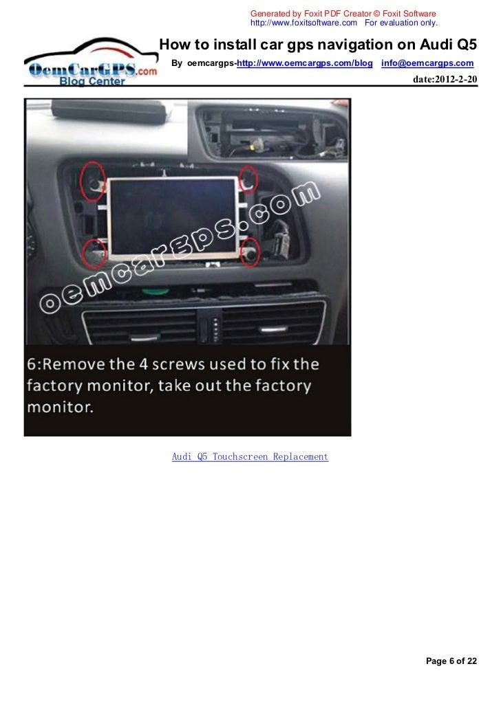 how to install car gps navigation on audi q5. Black Bedroom Furniture Sets. Home Design Ideas