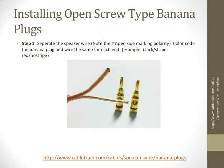 Banana Plugs How To Install Screw Type