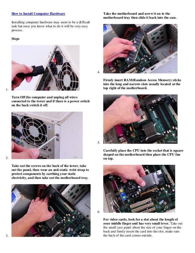 How to install computer hardware 10 steps (with pictures)