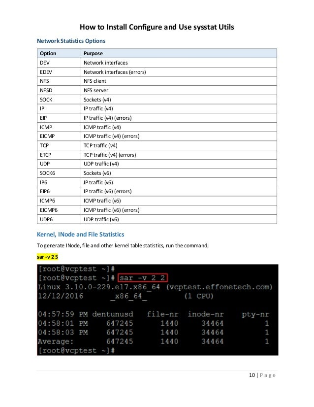 How to Install Configure and Use sysstat utils on RHEL 7