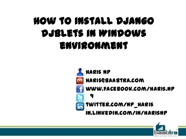 How to install django djblets in windows