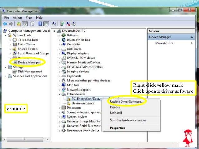 "Select folder were you saved ""drivers"""