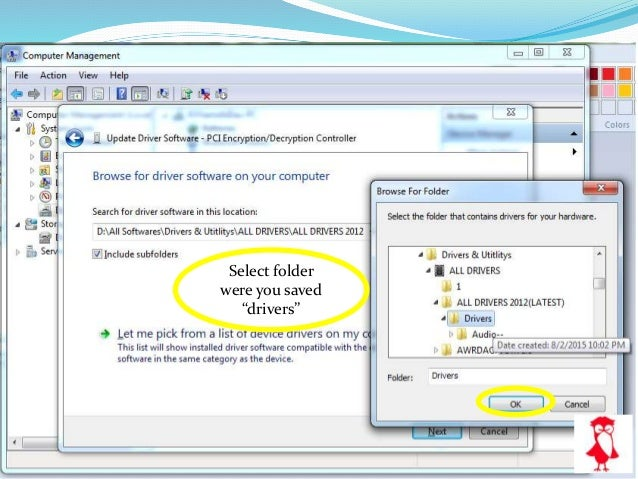 How to install drivers in manual method in windows 7