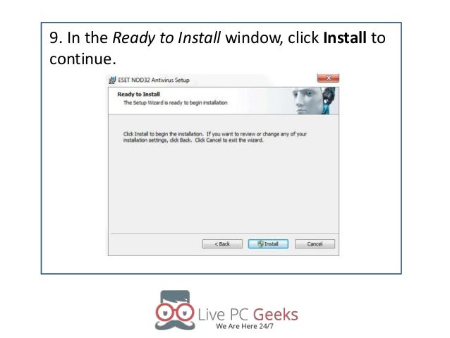How to install eset nod32 antivirus