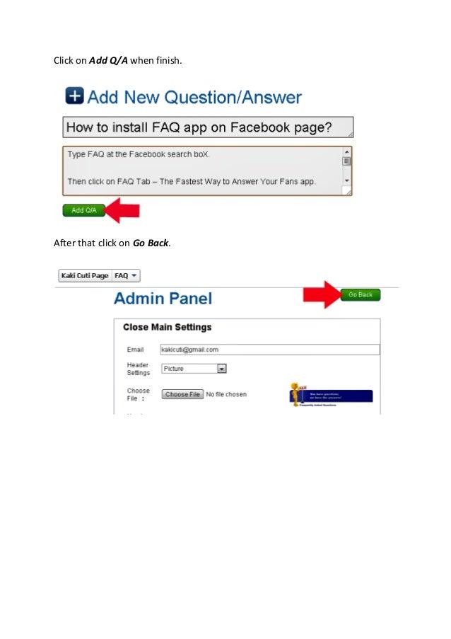 Facebook app faq