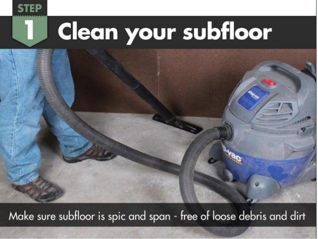 How To Install Floor Muffler Ultra Seal Underlayment