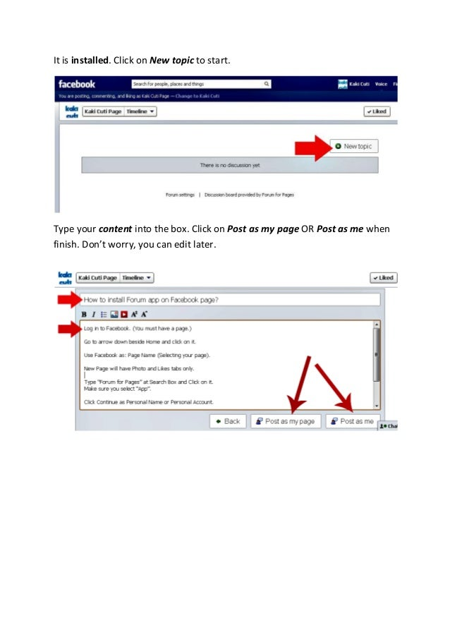 how to add app on facebook page