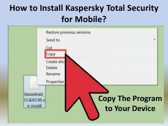 How to Install Kaspersky Total Security for Mobile?