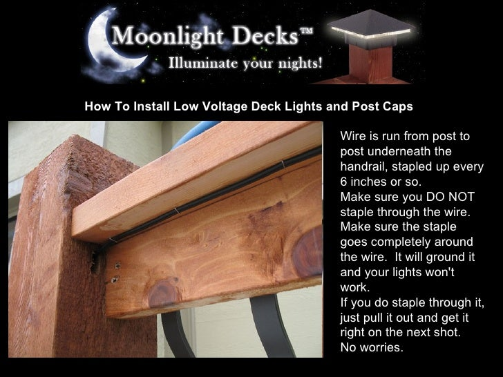 How to install low voltage deck lights and post caps 11 728gcb1233618324 how to install low voltage deck lights mozeypictures Choice Image