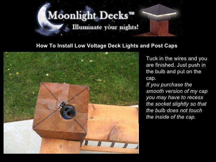 How to install low voltage deck lights and post caps 17 728gcb1233618324 17 how to install low voltage deck lights and post mozeypictures Gallery