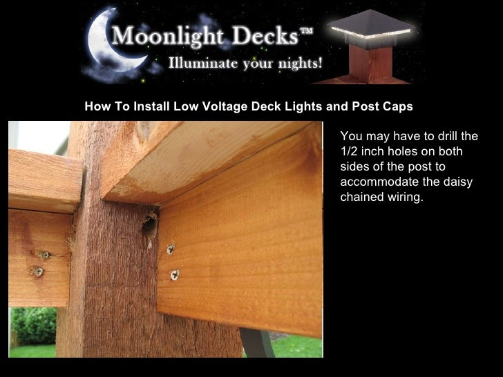 How to install low voltage deck lights and post caps 6 728gcb1233618324 how to install low voltage deck lights mozeypictures Gallery