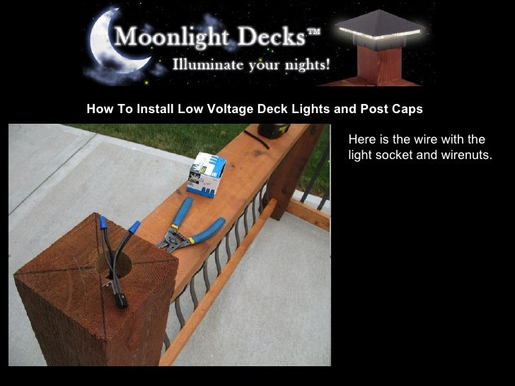 How to install low voltage deck lights and post caps 8 728gcb1233618324 8 how to install low voltage deck lights and post caps here is the aloadofball Choice Image