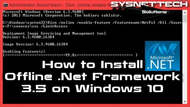 activate .net 3.5 windows 10 offline