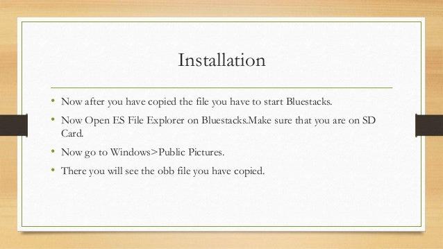 how to paste obb file in bluestacks 4