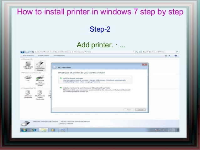 A printer is either local (attached to your computer), or networked. To be local, it has to be attached to your computer. If you do that, you can share it and other computers on the network could see it .