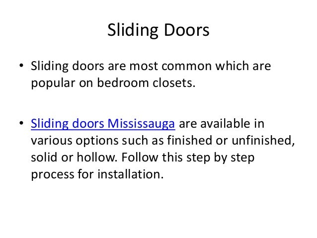 How To Install Sliding Closet Doors In Mississauga