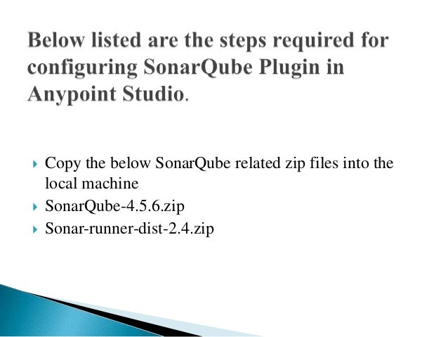How To Install Sonar Qube Plugin In Anypoint Studio