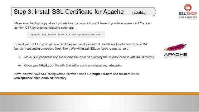Установка ssl к апач регистрация в каталогах Касимов