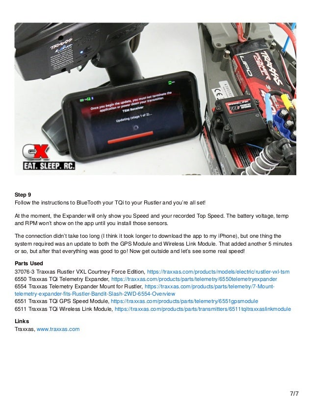 traxxas link app instructions
